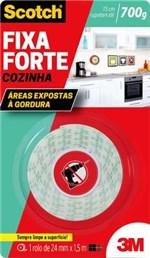 Ficha técnica e caractérísticas do produto Fita Fixa Forte Cozinha 24mm X 1,5m - 3m
