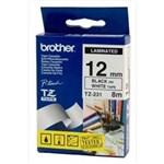 Ficha técnica e caractérísticas do produto Fita Rotulador Brother 12mm TZ-231 Preto/Branco