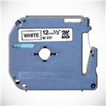 Ficha técnica e caractérísticas do produto Fita Rotulador Pt Brother M231 Largura 12mm Comprimento 8mm Preto/Branco