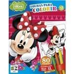 Ficha técnica e caractérísticas do produto Folhas para Colorir Mini com Giz de Cera Minnie - 80 Folhas 155071