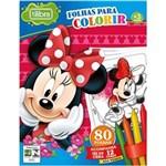 Ficha técnica e caractérísticas do produto Folhas para Colorir Mini com Giz de Cera Minnie - 80 Folhas