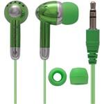 Ficha técnica e caractérísticas do produto Fone de Ouvido com Fio Coby Verde - Cve53