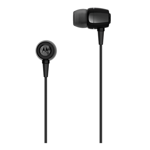 Fone de Ouvido Motorola Earbuds Metal Preto