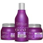 Forever Liss - Kit Platinum Blond Shampoo + Máscara Condicionante + Btox Intensive