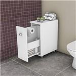 Gabinete para Banheiro 1 Porta de Correr Bcm116 Movelbento Branco
