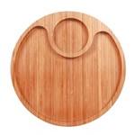 Ficha técnica e caractérísticas do produto Gamela Bamboo com 2 Divisórias Mor