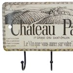Gancheira Porta Chaves Chateu Pavie 3 Ganchos 19083 Oldway