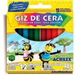 Ficha técnica e caractérísticas do produto Giz de Cera 12 Cores 09012 Acrilex CX 1 CJ