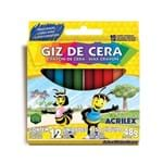 Ficha técnica e caractérísticas do produto Giz de Cera 12 Cores Acrilex 48g
