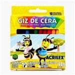 Ficha técnica e caractérísticas do produto Giz de Cera 12 Cores - Acrilex