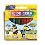 Ficha técnica e caractérísticas do produto Giz de Cera 12 Cores --- Acrilex----