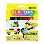 Ficha técnica e caractérísticas do produto Giz de Cera 12 Cores Acrilex