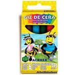 Ficha técnica e caractérísticas do produto Giz de Cera Acrilex 6 Cores 24g Unitário - 09006