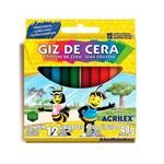 Ficha técnica e caractérísticas do produto Giz de Cera com 12 Cores - Acrilex