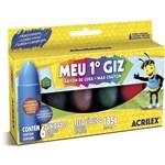 Ficha técnica e caractérísticas do produto Giz de Cera Meu 1 Giz 6 Cores- Acrilex