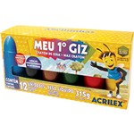 Ficha técnica e caractérísticas do produto Gizão de Cera Acrilex Infantil 12 Cores