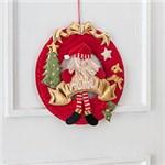 Guirlanda Luxo no Natal Papai Noel 28cm - Orb Christmas