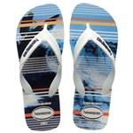Ficha técnica e caractérísticas do produto Havaianas Unissex Surf - Branca/Azul - Tamanho 39/40 - Branco/Azul Marinho