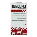 Ficha técnica e caractérísticas do produto Hemolipet 30 Comprimidos Suplemento Cães e Gatos - Avert