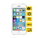 IPhone 5S Apple ME433 Prata 32GB