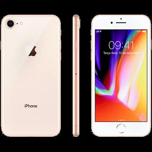 """IPhone 8 64GB Dourado Tela 4.7"""" IOS 4G Câmera 12MP - Apple"""