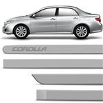 Jogo de Friso Lateral Toyota Corolla 2008 a 2014 Prata Super Nova Tipo Borrachão Fácil Instalação