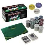 Jogo Ficha Poker 24x12 com Lata 200 Pçs