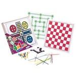 Ficha técnica e caractérísticas do produto Jogo Infantil 4 em 1 Ludo, Damas, Trilha e Pega Varetas - Xalingo