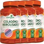 Ficha técnica e caractérísticas do produto Kit 4 Colágeno Hidrolisado com Vitamina C 120 Cápsulas Katigua