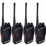 Ficha técnica e caractérísticas do produto Kit 4 Radio Comunicador 777s 16 Canais Profissional Ht Uhf