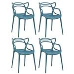 Ficha técnica e caractérísticas do produto KIT - 4 X Cadeiras Allegra - AZUL TURQUESA