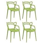 Ficha técnica e caractérísticas do produto KIT - 4 X Cadeiras Allegra - VERDE