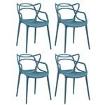 Ficha técnica e caractérísticas do produto KIT - 4 X Cadeiras Masters Allegra - Turquesa