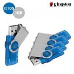 Kit 5 Pen Drive Kingston 4GB USB 3.0 DataTraveler 101 G2 Azul