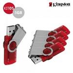 Kit 5 Pen Drive Kingston 8GB USB 3.0 DataTraveler 101 G2 Vermelho