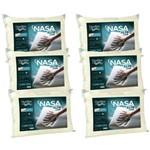 Kit 6 Travesseiros Nasa Alto Luxo 50x70cm - Duoflex