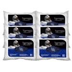 Ficha técnica e caractérísticas do produto Kit 6 Travesseiros Pluma de Ganso Premium 50X70cm Casa Dona 200 Fios Branco