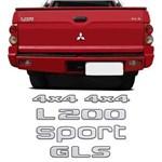 Kit Adesivos L200 Sport Gls 4x4 Mitsubishi Resinado Escovado