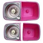 Ficha técnica e caractérísticas do produto Kit Balde Spin Mop 360 Esfregão Cesto Inox Balde Duplo com Divisão Instamop + Refil Tssaper