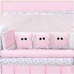 Ficha técnica e caractérísticas do produto Kit Berço Corujinha Rosa - Precious Baby