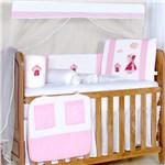 Ficha técnica e caractérísticas do produto Kit Berço Jardineira Rosa - Precious Baby