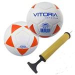 Kit 2 Bolas Futsal Vitoria Brx 40 Sub 7 3 a 6 Anos Bomba Ar