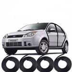 Ficha técnica e caractérísticas do produto Kit Borrachas Vedação 4 Portas Fiesta Hatch Sedan 2002 Até 2013