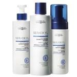 Ficha técnica e caractérísticas do produto Kit Cabelo Kit Serioxyl Shampoo + Condicionador + Mousse L´Oréal Prof