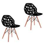 Ficha técnica e caractérísticas do produto Kit 2 Cadeiras Akron Preta