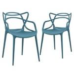 Ficha técnica e caractérísticas do produto Kit 2 Cadeiras Allegra - Azul Petróleo