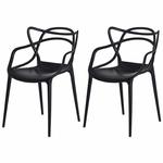 Ficha técnica e caractérísticas do produto Kit 3 Cadeiras Allegra Preta