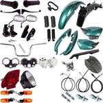 Kit Carenagem + Kit Farol Pisca Cg 125 Titan 2000/2001 Verde