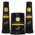 Ficha técnica e caractérísticas do produto Kit Cavalo Forte Shampoo Condicionador E Máscara 500ml - Haskell