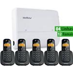 Kit Central Pabx Modulare + 4/12 Intelbras + 5 Ramais S/fio